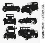set of retro cars | Shutterstock .eps vector #126325256
