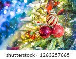 celebration of new year and... | Shutterstock . vector #1263257665