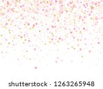 rose gold confetti circle... | Shutterstock .eps vector #1263265948