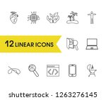 pack icons set with heart  code ...