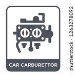car carburettor icon vector on...   Shutterstock .eps vector #1263278092