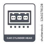 car cylinder head icon vector... | Shutterstock .eps vector #1263278128
