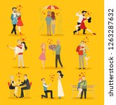 vector collection of happy... | Shutterstock .eps vector #1263287632