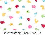 colorful crumpled pieces of...   Shutterstock . vector #1263292735