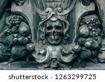 medieval ornament with symbols... | Shutterstock . vector #1263299725