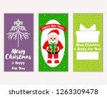 vector illustration of merry... | Shutterstock .eps vector #1263309478