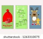 merry christmas and happy new... | Shutterstock .eps vector #1263310075