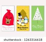 vector illustration of merry... | Shutterstock .eps vector #1263316618