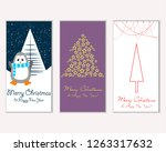 vector illustration of merry... | Shutterstock .eps vector #1263317632