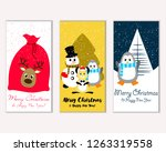merry christmas and happy new... | Shutterstock .eps vector #1263319558