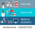 health care and medical flat...   Shutterstock .eps vector #1263327022