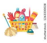 design banner house cleaning... | Shutterstock .eps vector #1263330028