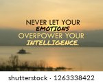 inspirational quote on blurred... | Shutterstock . vector #1263338422