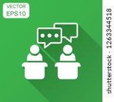 politic debate icon in flat... | Shutterstock .eps vector #1263344518