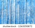 blue grungy painted wooden... | Shutterstock . vector #1263350872