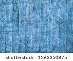 blue grungy painted wooden... | Shutterstock . vector #1263350875