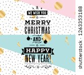 merry christmas. typography.... | Shutterstock .eps vector #1263353188