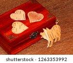 handmade mahogany jewelry box | Shutterstock . vector #1263353992