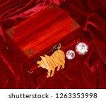 handmade mahogany jewelry box | Shutterstock . vector #1263353998