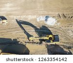 aerial view machinery and heavy ...   Shutterstock . vector #1263354142