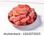 spiced halogen beef   Shutterstock . vector #1263372025