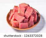 spiced halogen beef   Shutterstock . vector #1263372028
