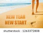 new year 2019 new start... | Shutterstock . vector #1263372808