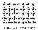 abstract maze   labyrinth with... | Shutterstock .eps vector #1263373042