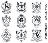 heraldic signs  elements ... | Shutterstock .eps vector #1263375922