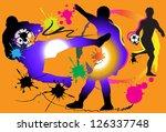 soccer action art | Shutterstock . vector #126337748