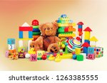 toys collection isolated on ... | Shutterstock . vector #1263385555