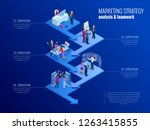 isometric presentation business ... | Shutterstock .eps vector #1263415855