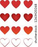 heart icons vector | Shutterstock .eps vector #1263420268
