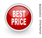 best price red circle web icon... | Shutterstock . vector #126342038