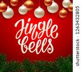 jingle bells calligraphy text... | Shutterstock .eps vector #1263432805