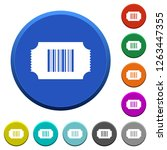 ticket with barcode round color ... | Shutterstock .eps vector #1263447355