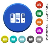 file server round color beveled ... | Shutterstock .eps vector #1263447358