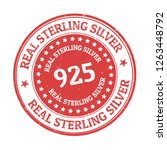 real sterling silver sign or... | Shutterstock .eps vector #1263448792