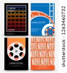 set of abstract movie and film...   Shutterstock .eps vector #1263460732