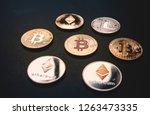 cryptocurrencies concept  ... | Shutterstock . vector #1263473335