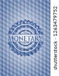 monetary blue emblem with... | Shutterstock .eps vector #1263479752