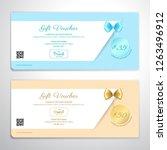gift certificate  voucher  gift ... | Shutterstock .eps vector #1263496912