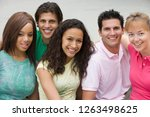 group of young men and women... | Shutterstock . vector #1263498625