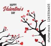 valentine love tree background | Shutterstock .eps vector #1263506605