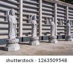 beautiful buddhism statue in... | Shutterstock . vector #1263509548