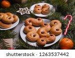 swedish christmas. traditional... | Shutterstock . vector #1263537442