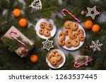 traditional swedish christmas... | Shutterstock . vector #1263537445