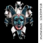 Red Blue Venice Mask - Fine Art prints