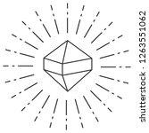 diamond icon isolated on white... | Shutterstock .eps vector #1263551062