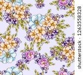 flower print. elegance seamless ... | Shutterstock .eps vector #1263558328